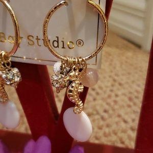 NWT seahorse hoop earrings